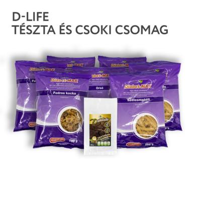 D-life szénhidrátcsökkentett lila tészta és csoki csomag _ válogatás