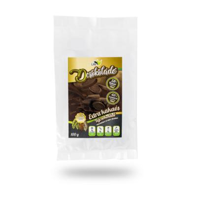 Dcsokoládé  - Extra kakaós szénhidrátcsökkentett tejcsokoládé 100g