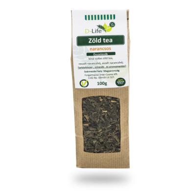 D-life Zöld tea narancsos (aromamentes) 100g