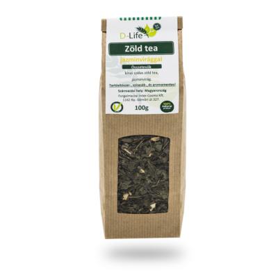 D-life Zöld tea jázmin (aromamentes) 100g