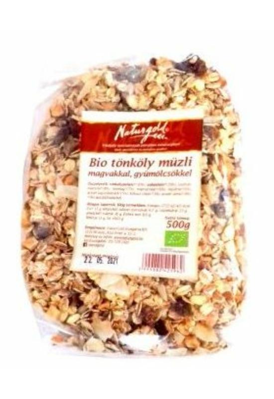Naturgold bio tönköly müzli magvakkal, gyümölcsökkel 500 g