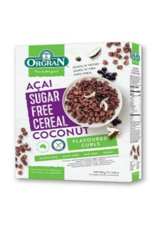 Orgran gluténment. cukormentes acai-kókusz müzli 200 g