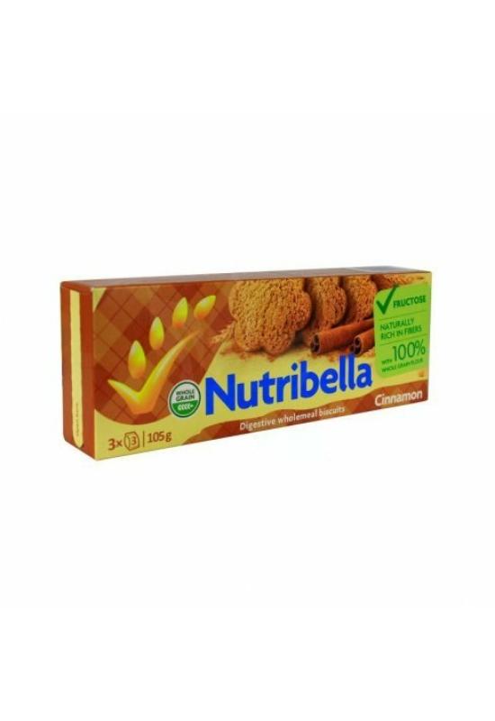 Nutribella narancsos keksz fruktózzal és gyömbérrel 105 g