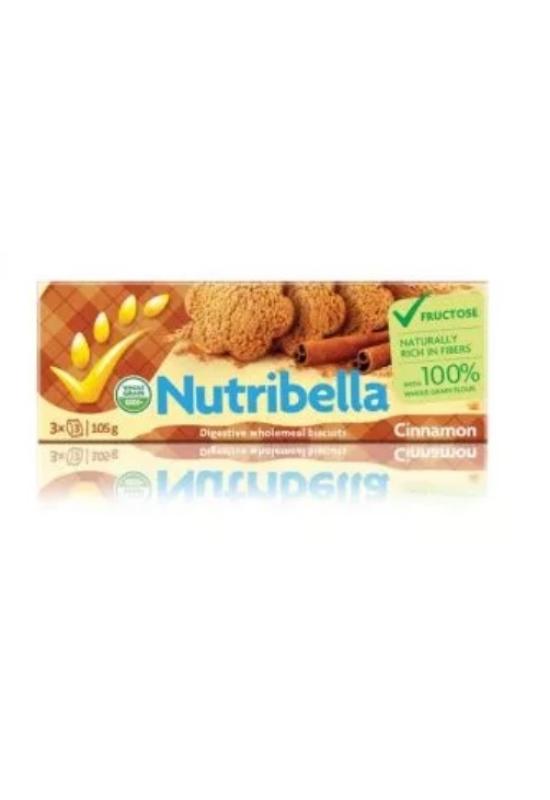 Nutribella teljes kiőrlésű fahéjas vegán keksz 105g