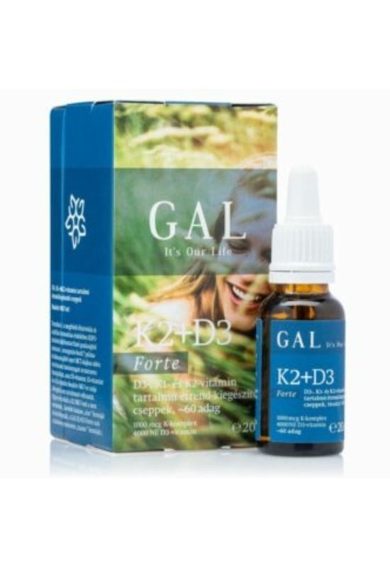 GAL K2 + D3-vitamin forte cseppek – 20ml