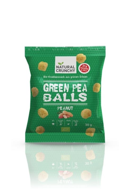 Bio zöldborsós snacks mogyorós ízesítéssel 75g