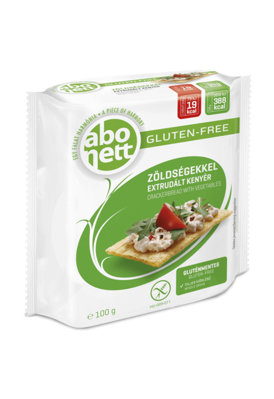 Abonett gluténmentes extrudált kenyér zöldségekkel 100 g