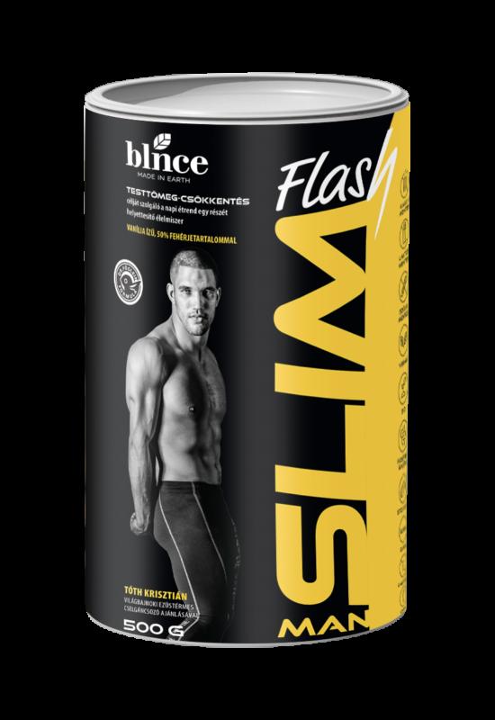 BLNCE  SlimFlash Man fogyókúrás por - Vaníliás íz 500g