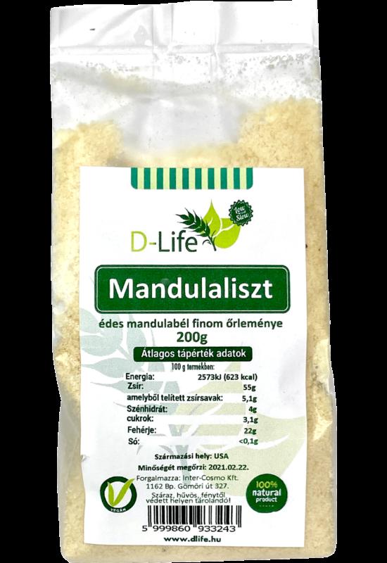 D-life Mandulaliszt  200g